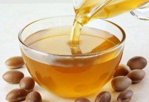 Argan oil in dish